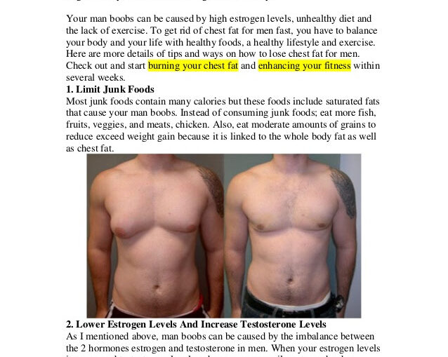How To Lose Chest Fat In A Week